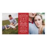 Multi Photo Red White Christmas Photo Card