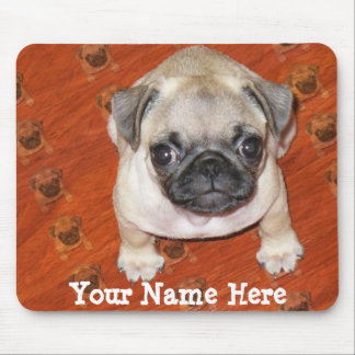 Multi Pug Puppy Mouse Pad