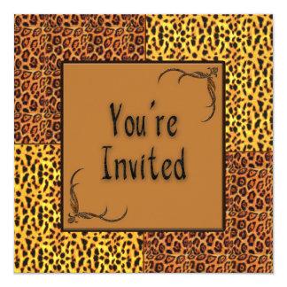 Multi Purpose Animal Print Invitation Invitation