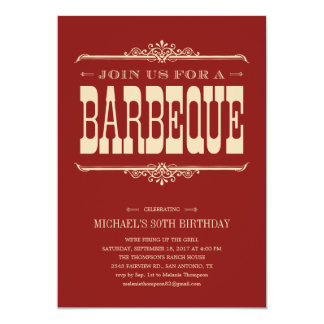 Multi-Purpose Barbeque Party Invitations