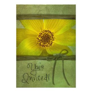 MULTI-PURPOSE - FLOWER INVITATION ANNOUNCEMENTS