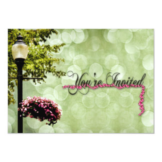 Multi-Purpose INVITATION -  Flowers/Lampost