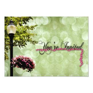Multi-Purpose INVITATION -  Flowers/Lampost