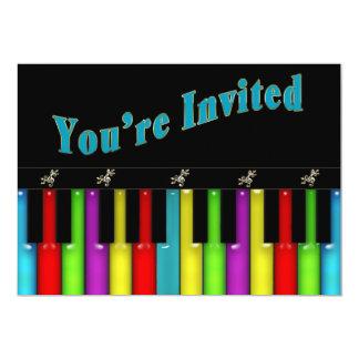 "Multi Purpose Invitation - Musical - Keyboard 5"" X 7"" Invitation Card"