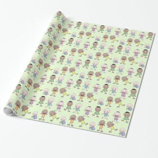 Multi Racial Babies Collage Wrapping Paper