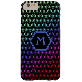 Multi rainbow spiders monogram on black 6/6s barely there iPhone 6 plus case