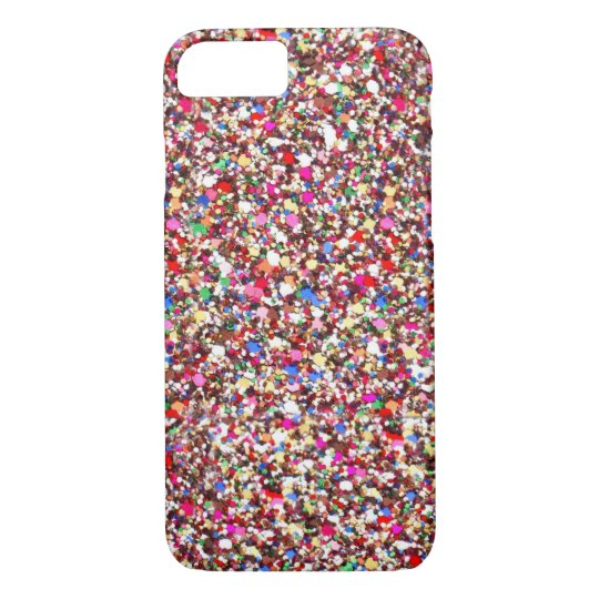 Multi Sequins Reds Sparkle Glitter Bling iPhone 7