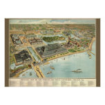 Multi-Size/Birds Eye View Chicago Worlds Fair 1893 Poster