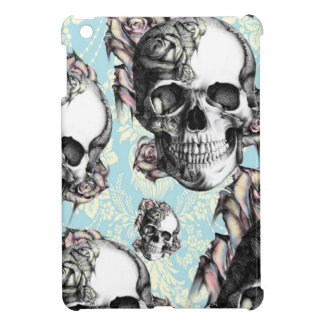 Multi skull and roses.  Don't be Blue. iPad Mini Cover