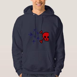 Multi skully hoodie