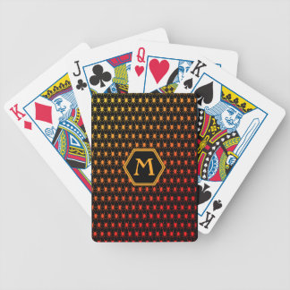Multi spiders fiery on black Monogram Bicycle Playing Cards