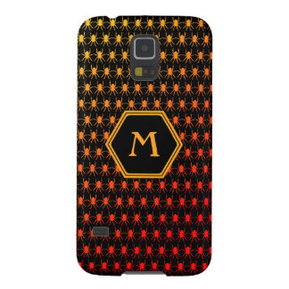 Multi spiders fiery on black Monogram Galaxy S5 Cover