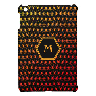 Multi spiders fiery on black Monogram iPad Mini Cases