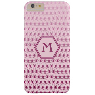 Multi spiders pink on pink 6/6s monogram barely there iPhone 6 plus case