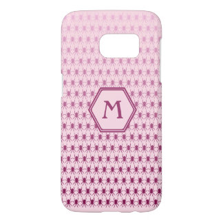 Multi spiders pink on pink monogram