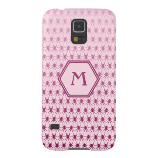 Multi spiders pink on pink monogram case for galaxy s5