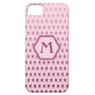 Multi spiders pink on pink monogram iPhone 5 cover