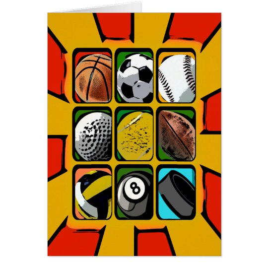 Multi-Sports Abstract Card