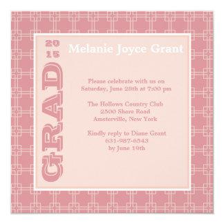 Multi Square Pink Invitation