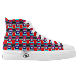 Multi Squared Printed Shoes