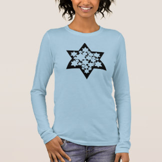 Multi Stars Star of David Long Sleeve T-Shirt