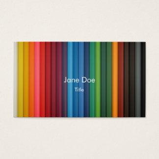 multi-stripe color business card