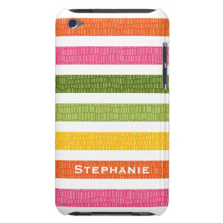 Multi Stripe Faux Croc iPod Touch 4g Case Cover iPod Touch Cases