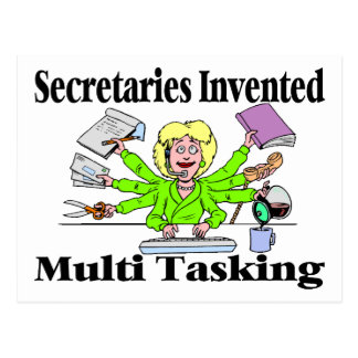 Multi Task Secretary Postcard