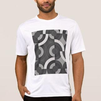 Multi Texture Look Geometric Mod Circles Tshirt