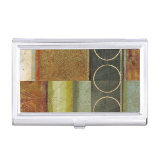 Multi-textured Abstract Painting by Vision Studio Business Card Holder