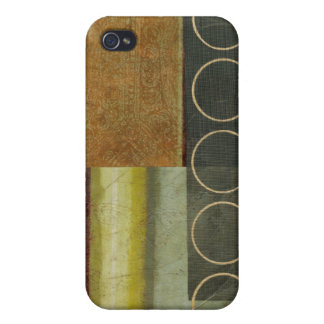 Multi-textured Abstract Painting by Vision Studio Cover For iPhone 4
