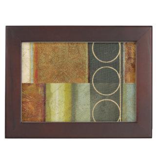 Multi-textured Abstract Painting by Vision Studio Keepsake Box
