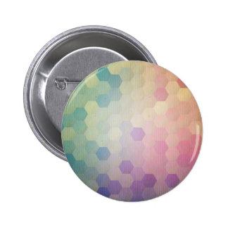 Multi vintage pastel colors pattern grunge chic 6 cm round badge