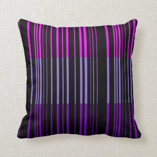 Multi Violet Retro Stripes Art Design Abstract Cushion