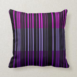 Multi Violet Retro Stripes Art Design Abstract Cushion