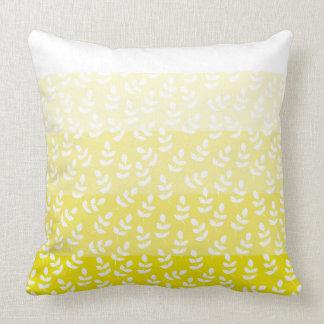 Multi Yellow Leaf Throw Pillow