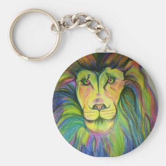 multicolo lion keychain