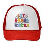 Multicolor 1st Grade Rocks Tshirts and Gifts Mesh Hat