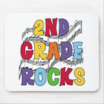 Multicolor 2nd Grade Rocks Mouse Pad