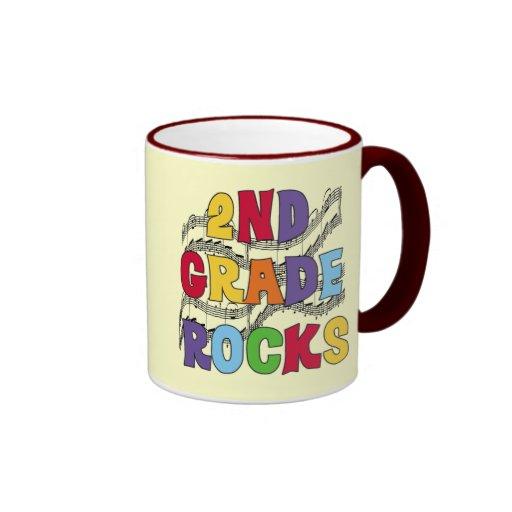 Multicolor 2nd Grade Rocks Tshirts and Gifts Mugs