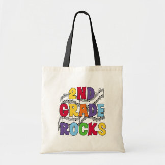 Multicolor 2nd Grade Rocks Tshirts and Gifts Tote Bag
