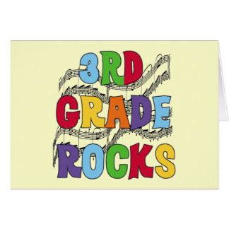Multicolor 3rd Grade Rocks Tshirts and Gifts Greeting Card