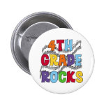 Multicolor 4th Grade Rocks 6 Cm Round Badge