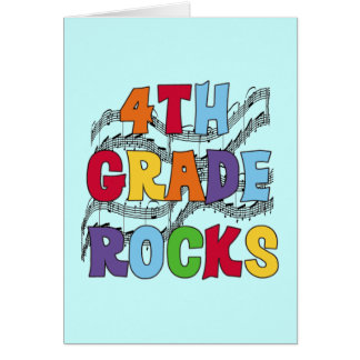 Multicolor 4th Grade Rocks Tshirts and Gifts Card