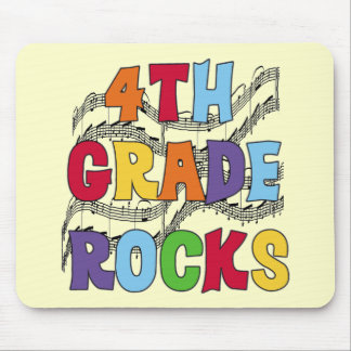 Multicolor 4th Grade Rocks Tshirts and Gifts Mouse Mats