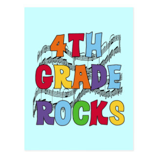 Multicolor 4th Grade Rocks Tshirts and Gifts Postcard