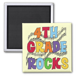 Multicolor 4th Grade Rocks Tshirts and Gifts Square Magnet
