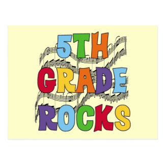 Multicolor 5th Grade Rocks T shirts and Gifts Post Cards