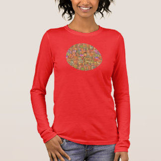 Multicolor Abstract Background. Colourful Pattern Long Sleeve T-Shirt