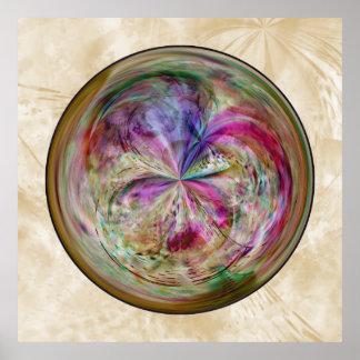 Multicolor Abstract Bubble Mandala Poster